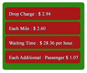 ABQ Green Cab Co.  Rates and charges